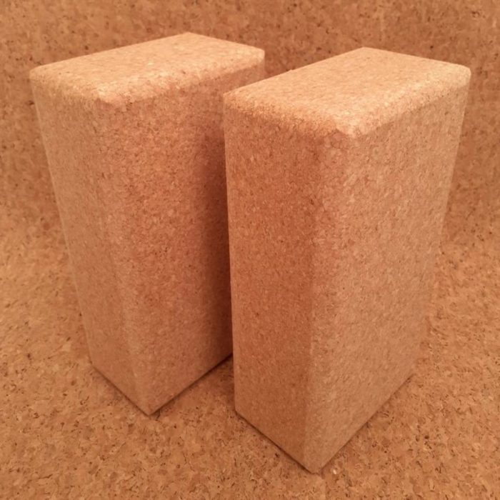 cork yoga blocks 100% natural and sustainable