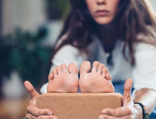 The benefits of cork a Yoga block